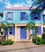 British Virgin Islands colorful houses properties villas