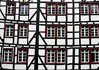 Germany old traditional timber frame houses