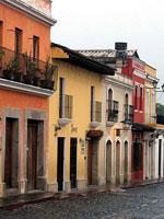 Guatemala Antigua colorful houses