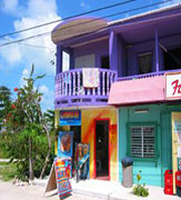 Guatemala colorful beachfront houses