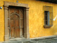 Guatemala typical stone houses