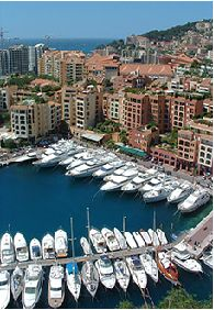 Monaco water front houses