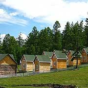 Mongolia Hagtal wooden cabin houses